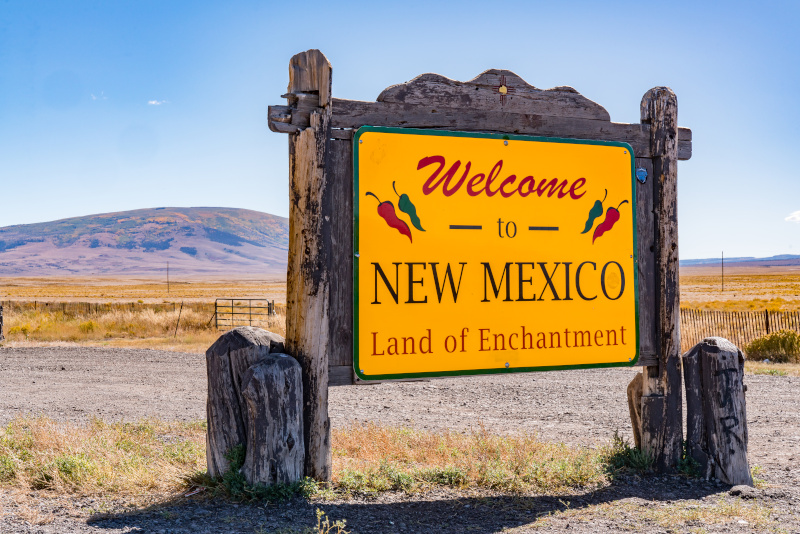 New Mexico Partnership Welcome to New Mexico sign
