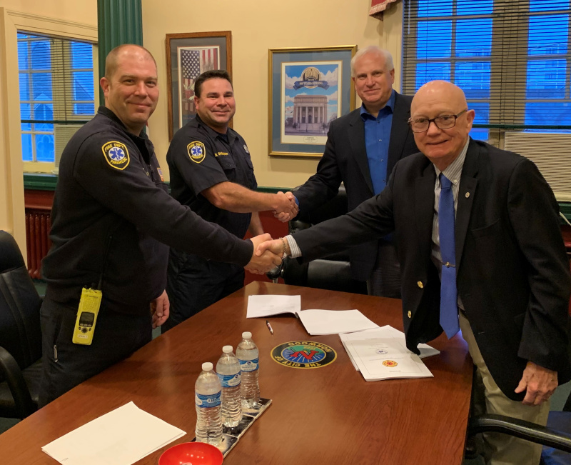 Norwood, Ohio Fire Contract Signing 2020