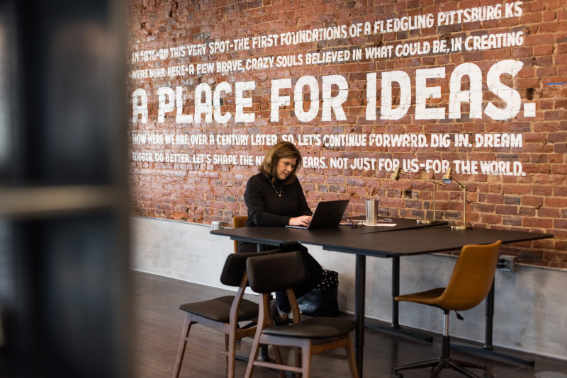 Pittsburg, Kansas coworking space