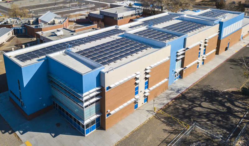 National Roofing, aerial view of a rooftop