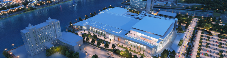 Savannah Convention Center aerial exterior