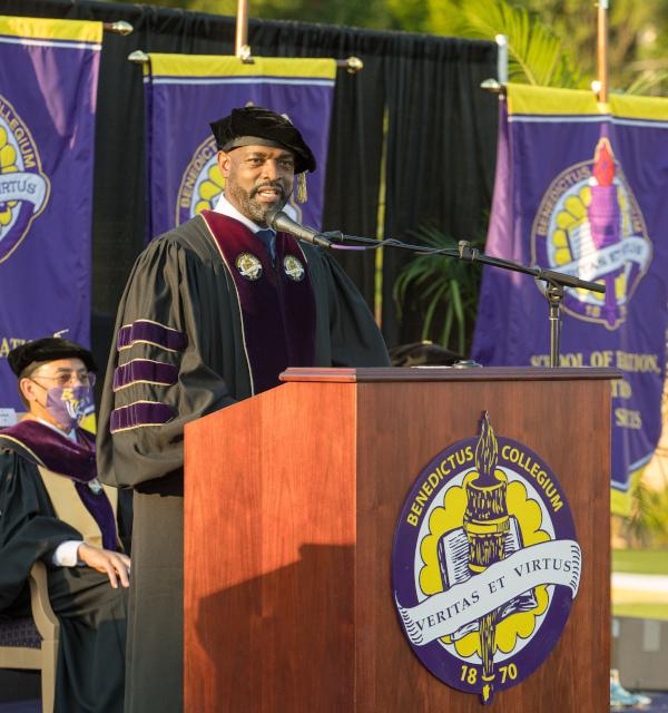 Benedict College podium speaker