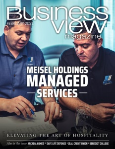 February 2021 issue cover for Business View Magazine