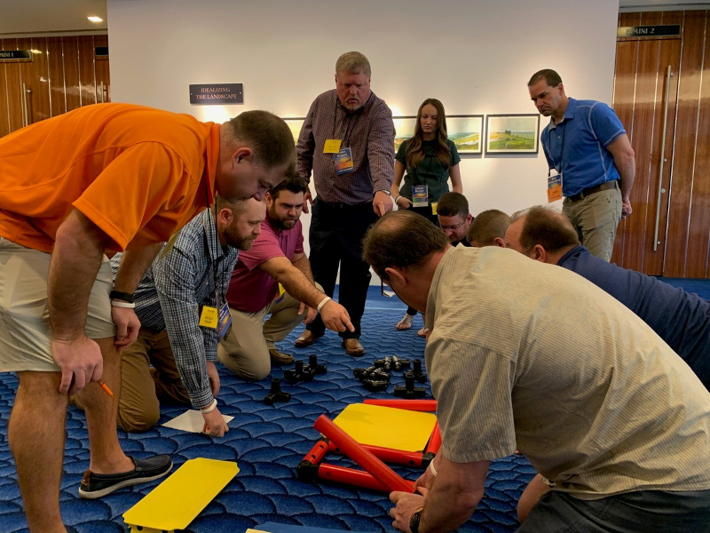 Participants in PCCA's Leadership Development Program tackle a hands-on, small group exercise.