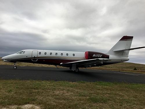 Thomas County Airport jet