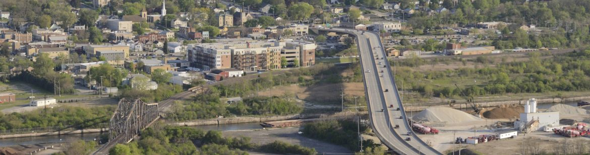 Lemont, Illinois Tri Central aerial looking south