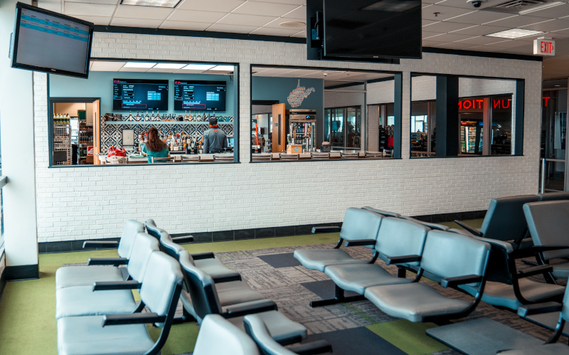 Yeager Airport Renovated Restaurant