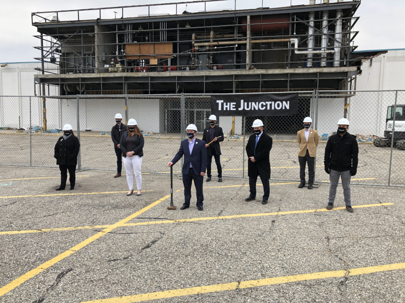 Cass County, Logansport, Indiana Groundbreaking at The Junction (mall project)
