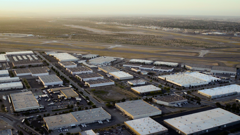 El Paso International Airport, Butterfield Trail Industrial Park aerial view